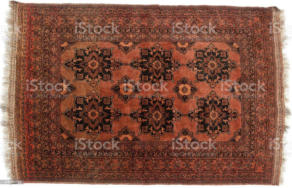 Brown tribal rug royalty-free stock photo
