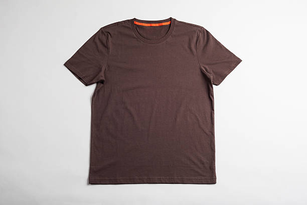 Brown tshirt template ready for your graphic design. stock photo