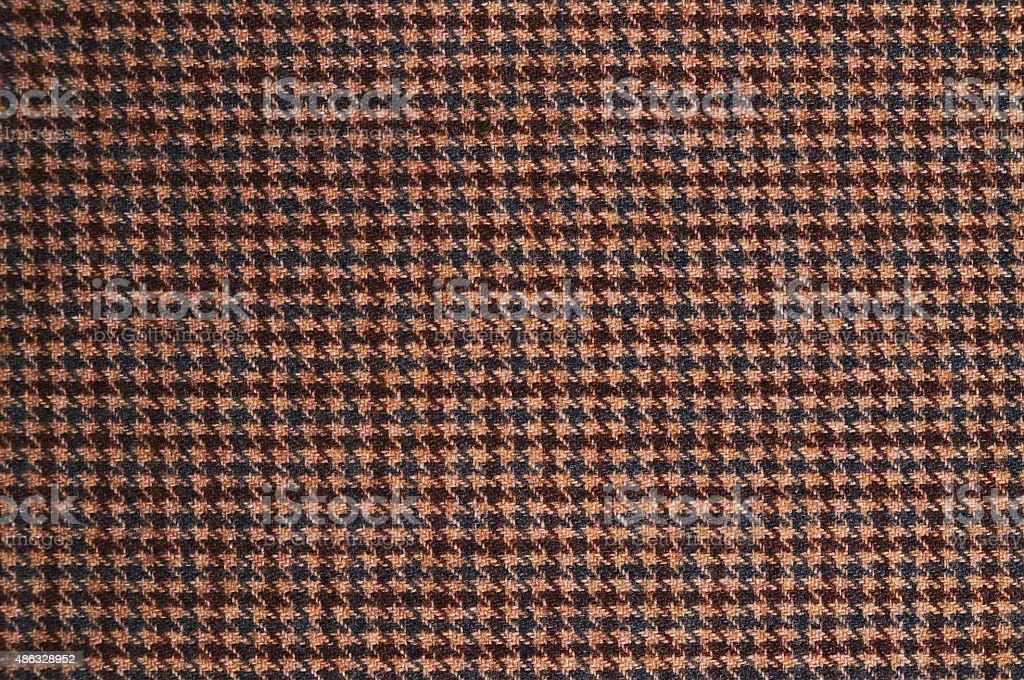Brown tweed textile pattern stock photo