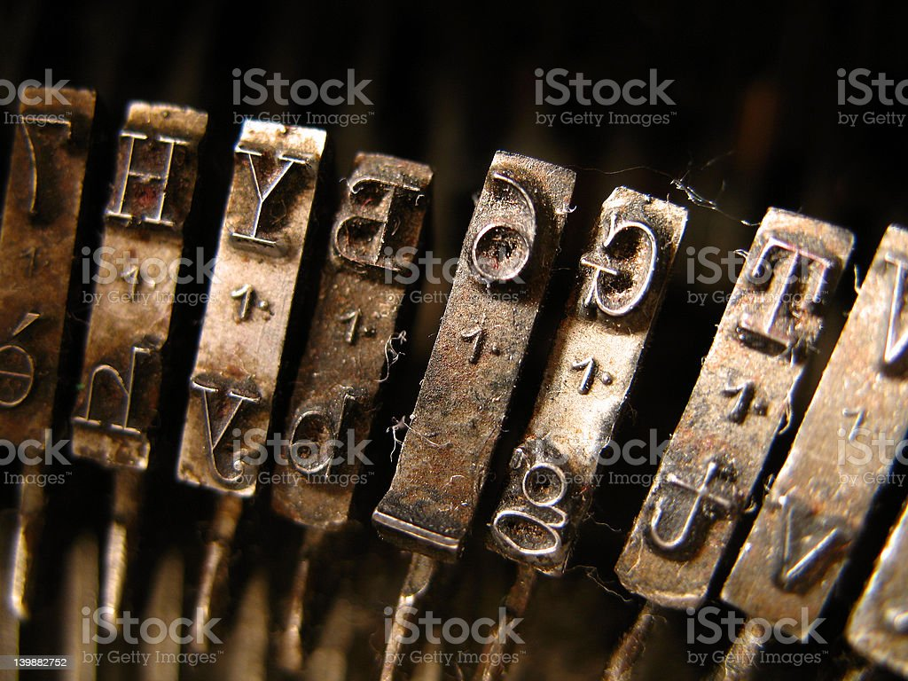 brown typewriter royalty-free stock photo