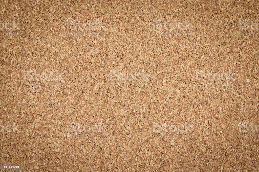Brown vintage cork board texture background. Empty bulletin Board stock photo