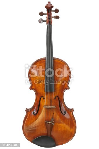 Isolated viola (not violin) on white background