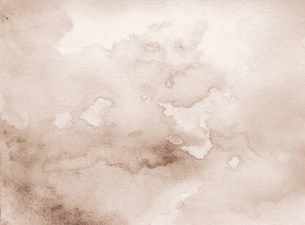 Brown watercolor background stock photo