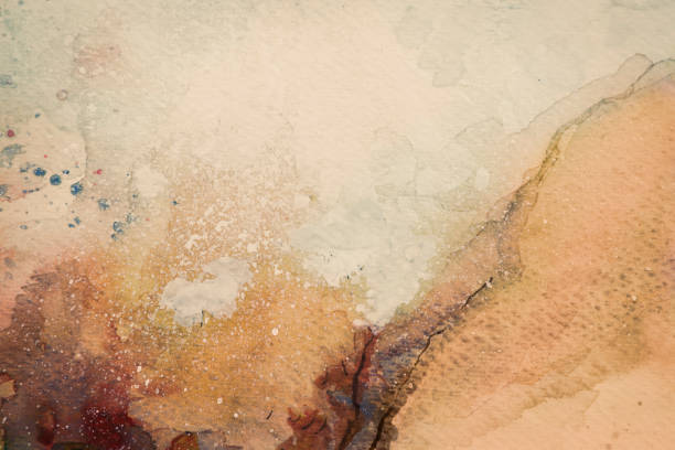 brown watercolor background - vintage nature stock pictures, royalty-free photos & images