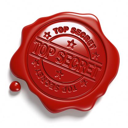 Brown wax seal. «Top Secret».