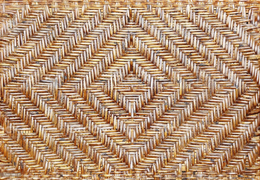 Brown wicker chair pattern background. royalty-free stock photo