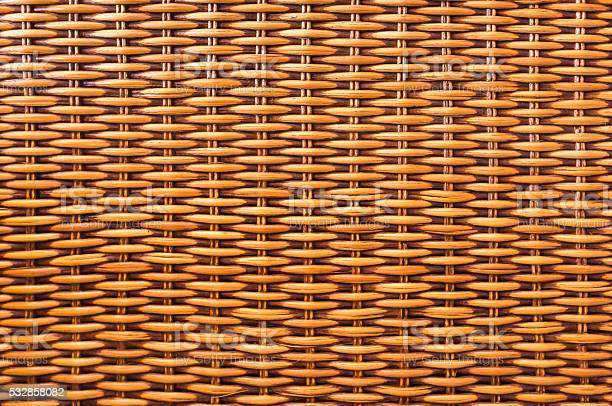Brown wicker wood  texture background