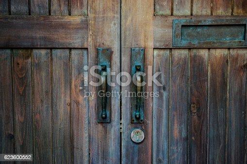 istock brown wood old door 623600552