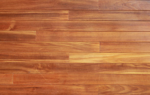 Brown wood plank wall background. stock photo