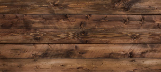 Brown wood texture background - foto stock