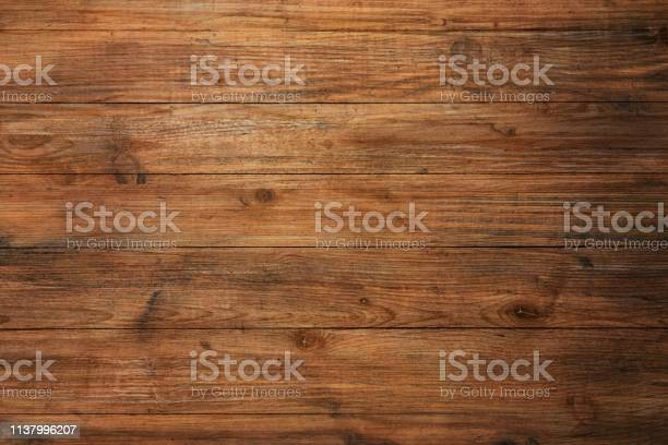 Photo of brown wood texture, dark wooden abstract background.