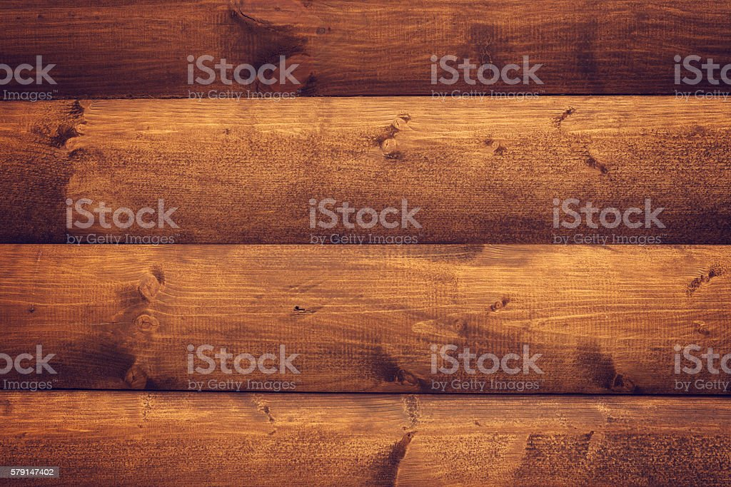 Brown wooden horizontal boards background stock photo