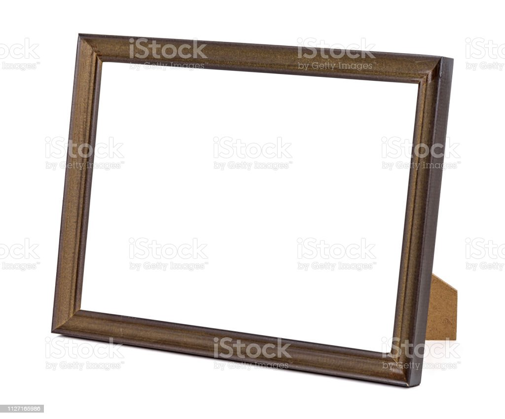 Round Photo Frame Wood Photo Frame Brown  Decorative  Frame Table Frame