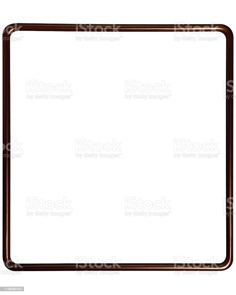 brown Wooden picture  Frame stock photo