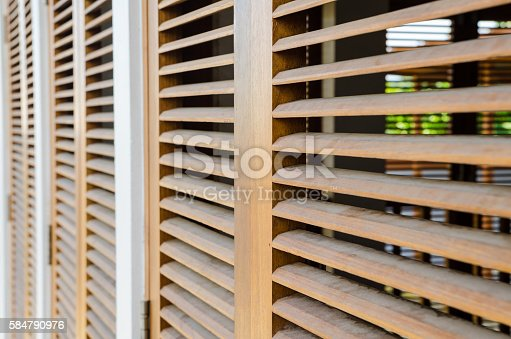 Brown Wooden Shutters : Brown wooden shutters stock photo more pictures of