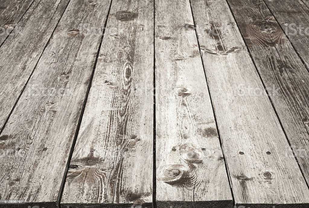 Brown Wooden Table Background Texture With Perspective Stock Photo