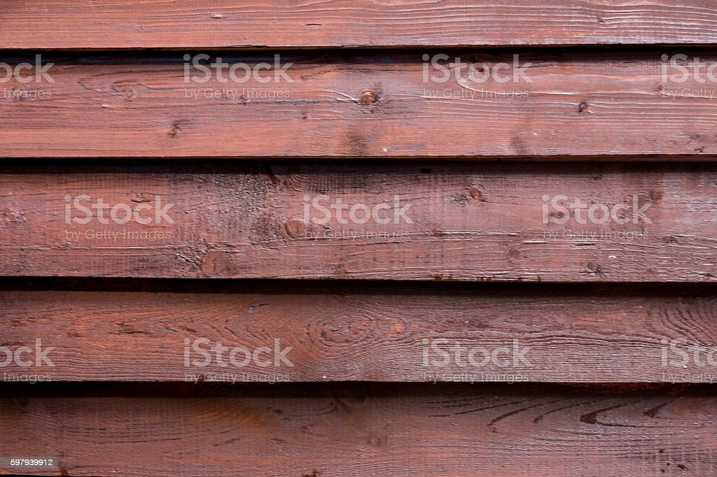 Brown wooden textured wall. Horizontal. foto royalty-free