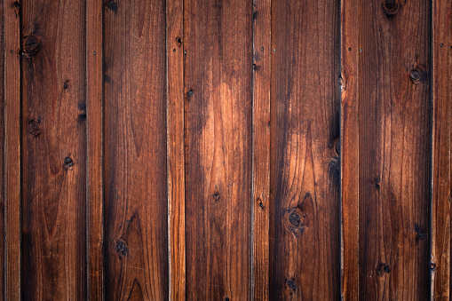 Brown Wooden Wall Background Stock Photo - Download Image Now