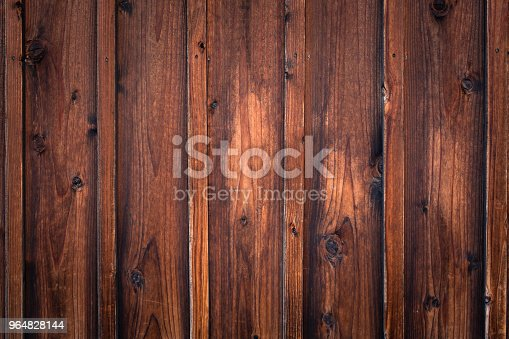 Brown Wooden Wall Background Stock Photo & More Pictures of Backdrop - Artificial Scene