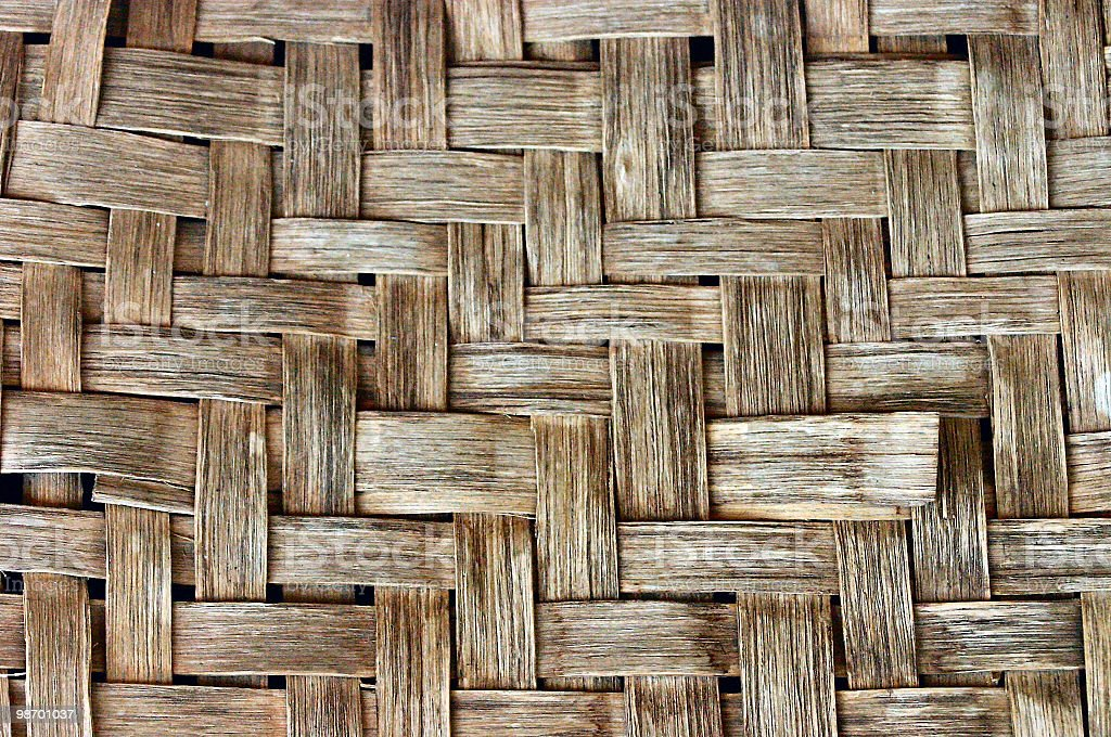brown wooden weave background royalty-free stock photo