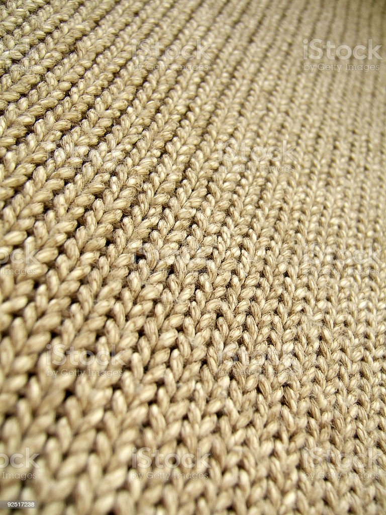Brown wool infinity royalty-free stock photo