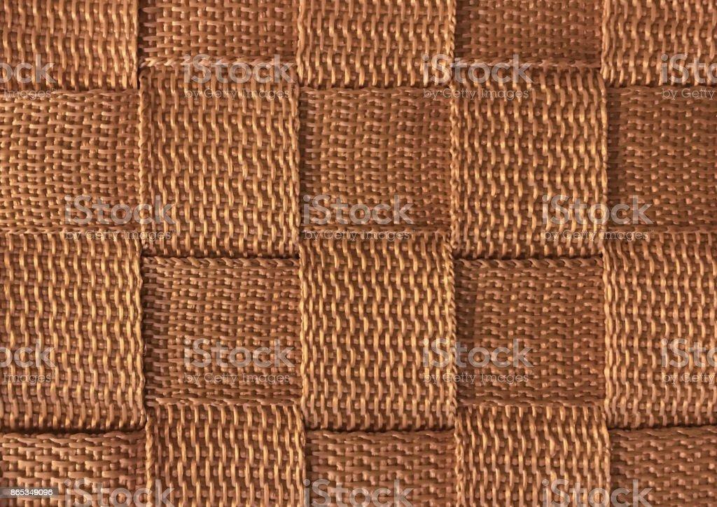 Brown Woven Vinyl Fabric Textured Stock Photo - Download