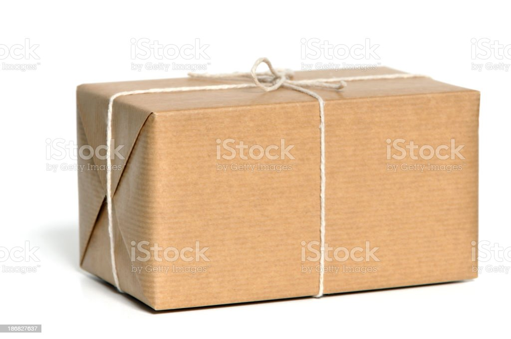 Brown wrapped parcel royalty-free stock photo