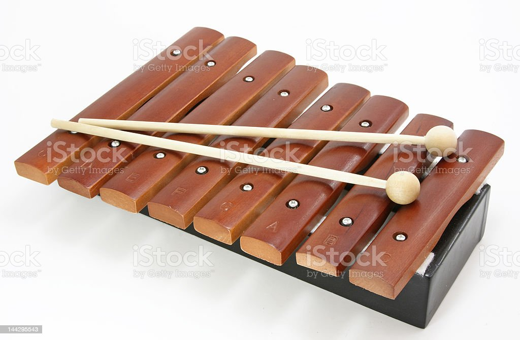 brown xylophone stock photo