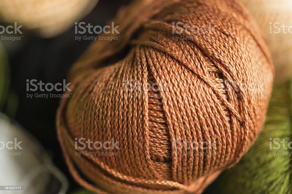 Brown yarn royalty-free stock photo