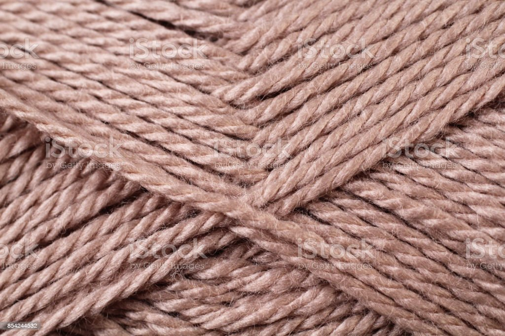 Brown Yarn Texture Close Up stock photo
