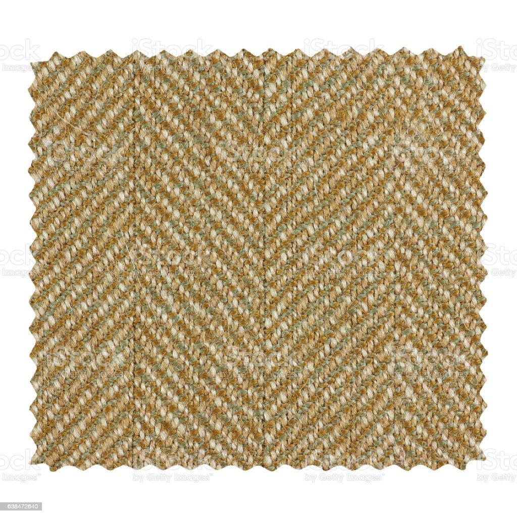 Brown zigzag fabric sample stock photo
