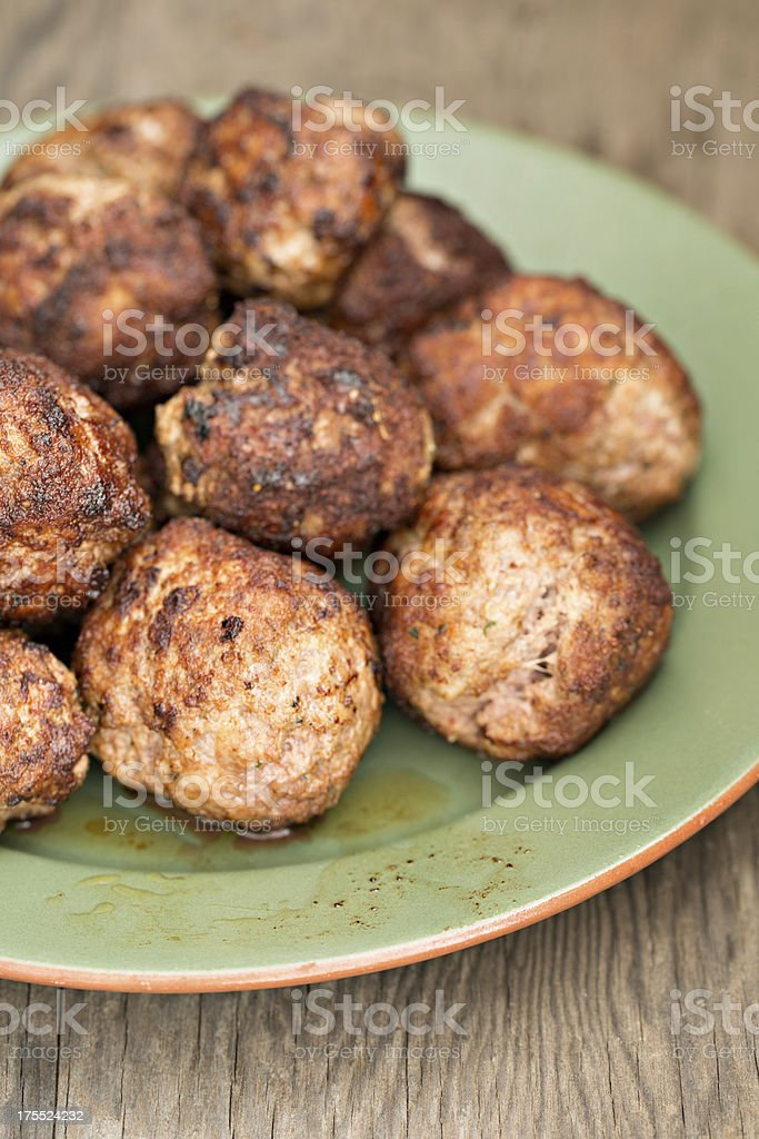 Browned Meatballs royalty-free stock photo