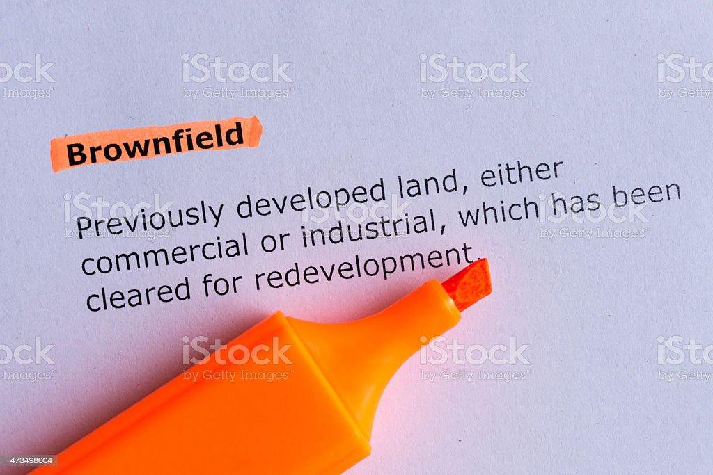 brownfield stock photo