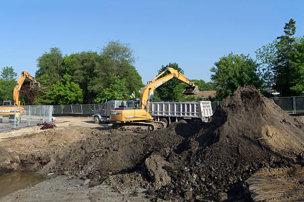 Brownfield Soil Remediation stock photo