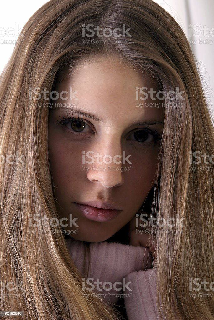 Brown-haired beauty royalty-free stock photo