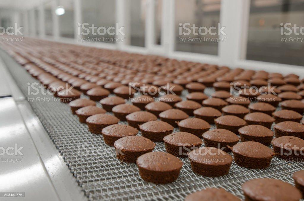 Brownie cuire usine de production - Photo