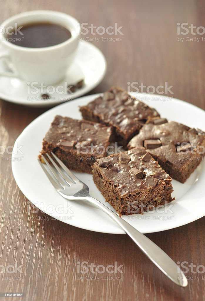 Brownie cakes stock photo