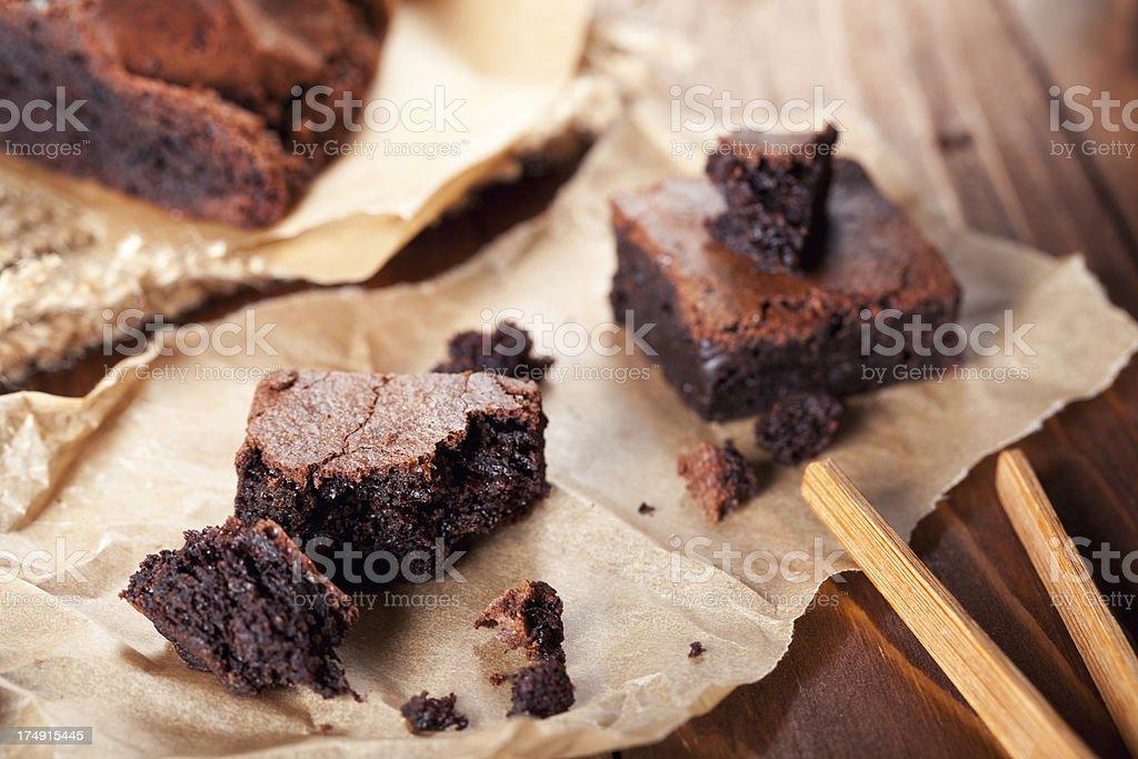 Brownie dessert royalty-free stock photo