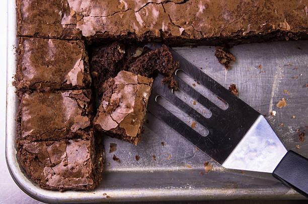 Brownie in pan - foto stock