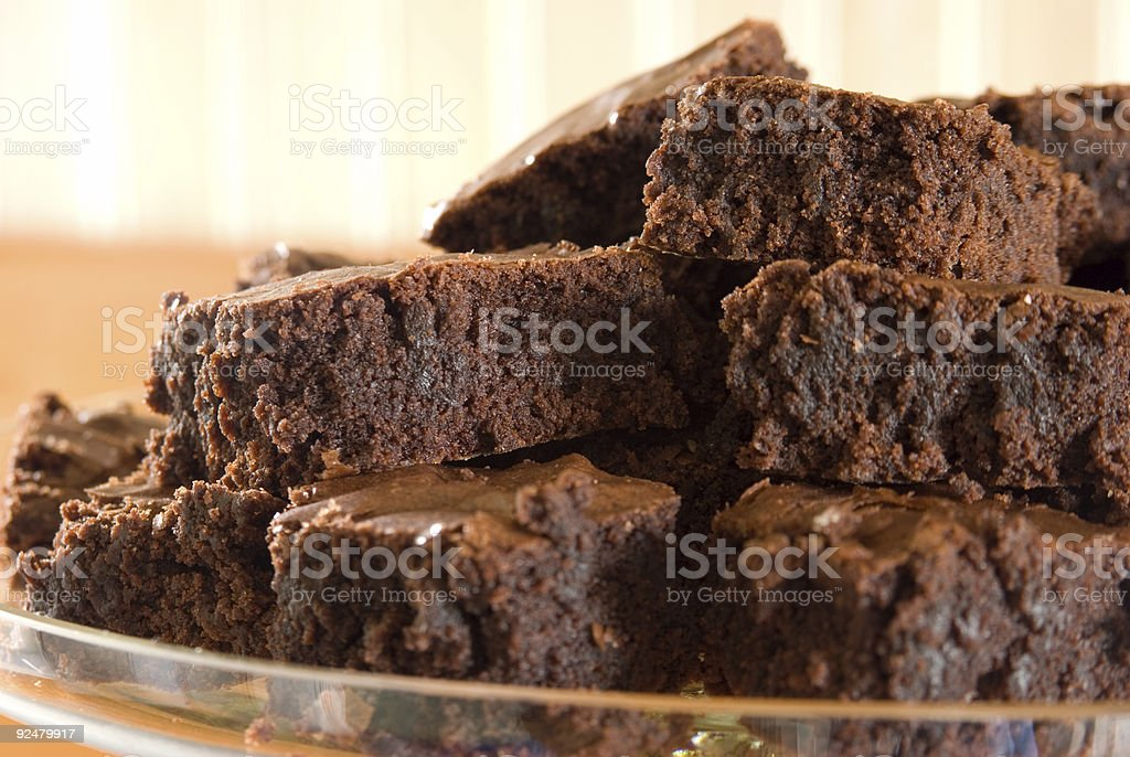 Brownies - Left View royalty-free stock photo