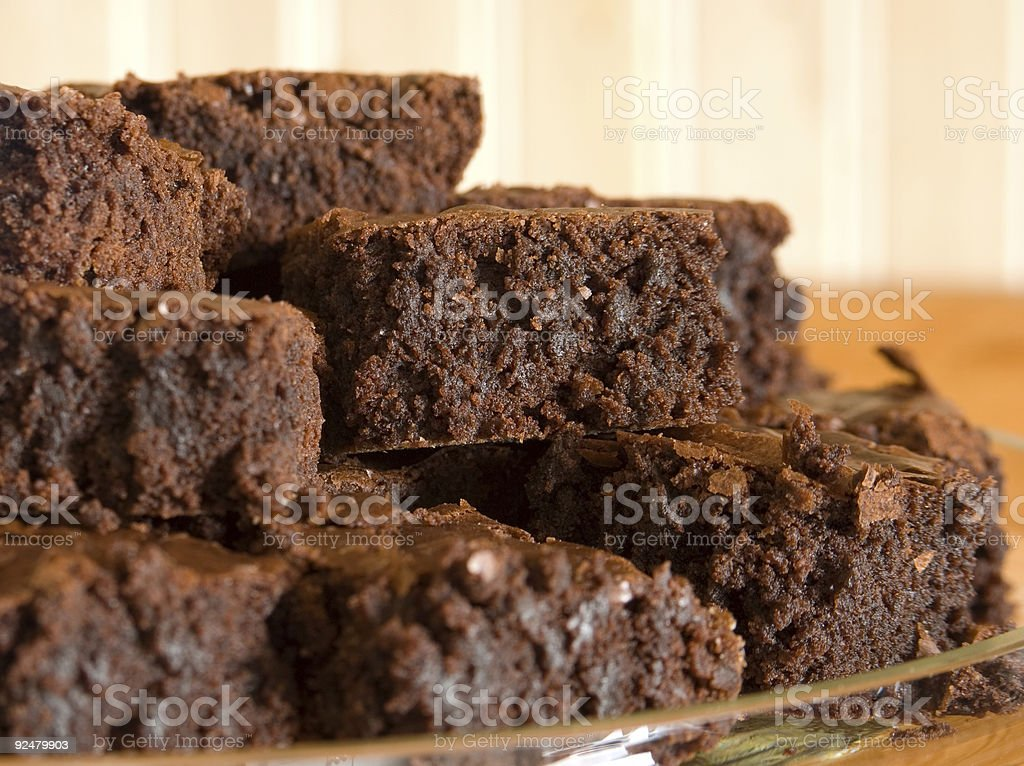 Brownies - Right View royalty-free stock photo