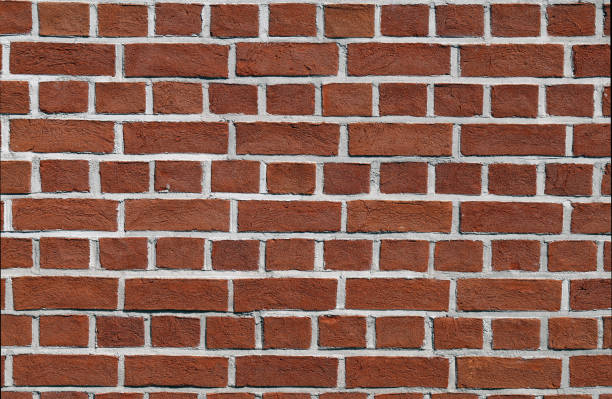 Brownish Red Brick Wall - Building Details stock photo