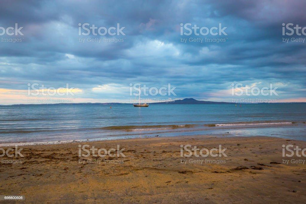 Browns Bay stock photo