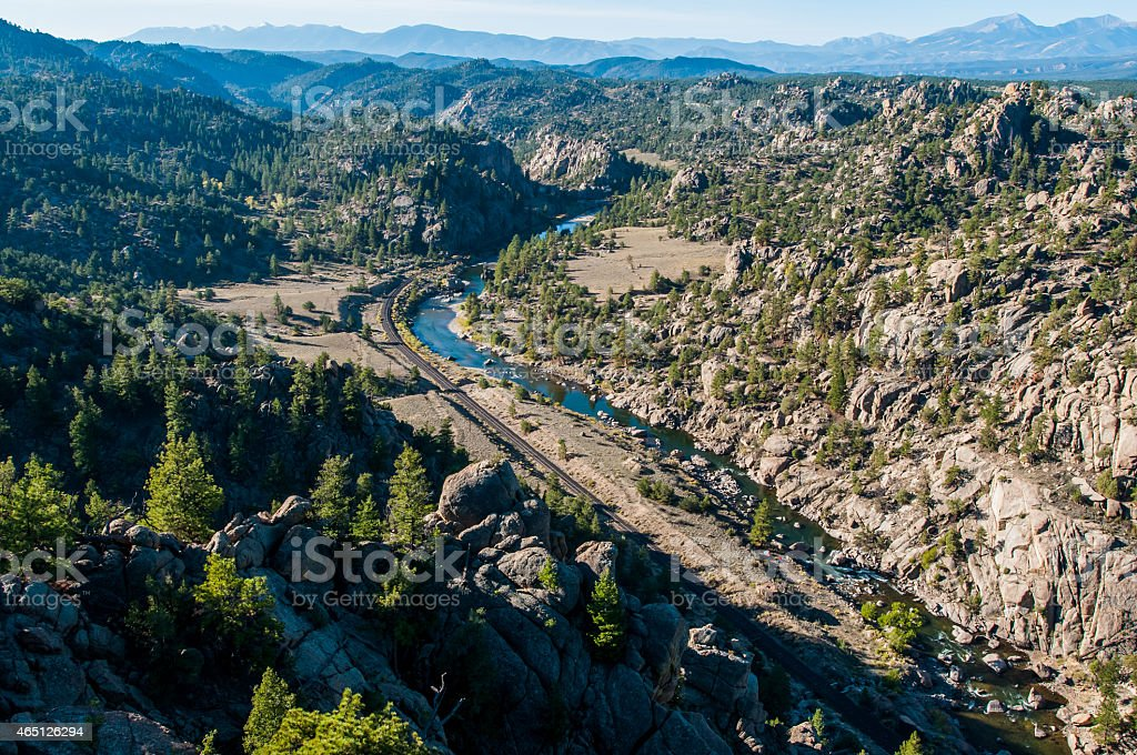 Browns Canyon National Monument stock photo