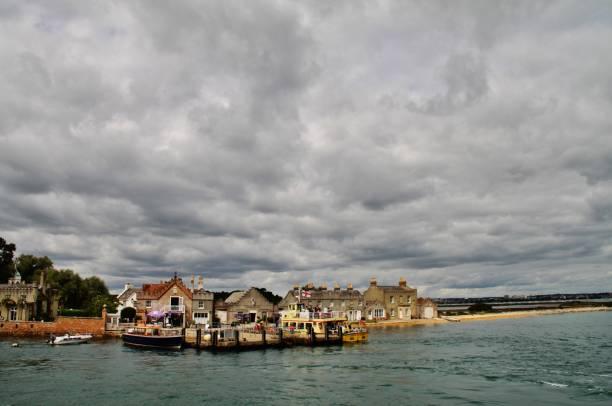 Brownsea Harbor stock photo