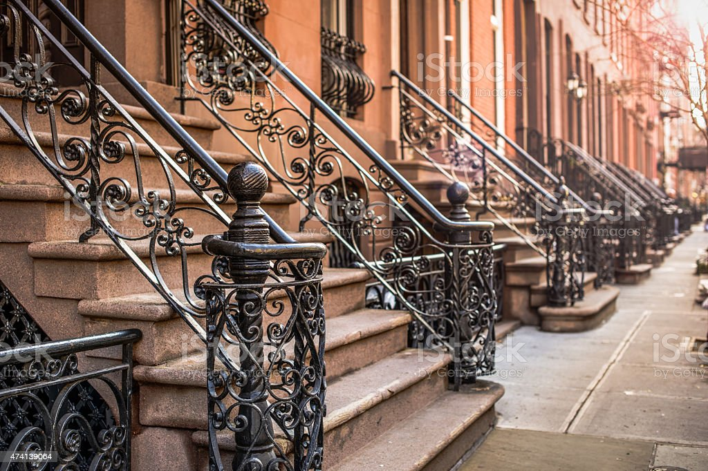 Brownstone Apartments stock photo