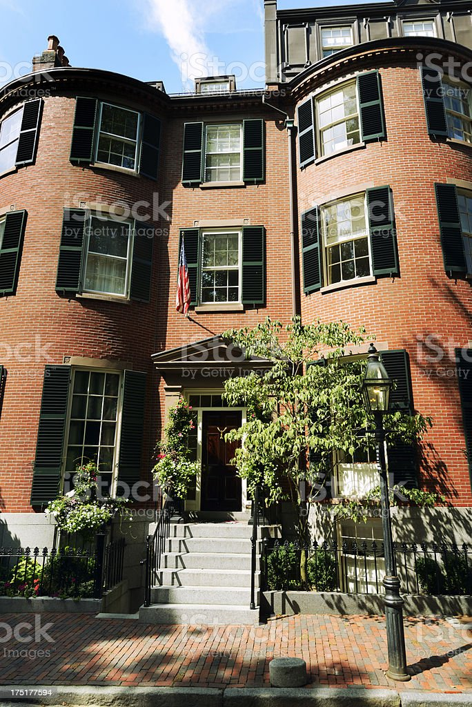 Brownstone, Boston royalty-free stock photo