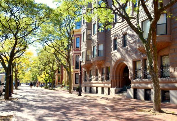 Brownstone, Boston. stock photo