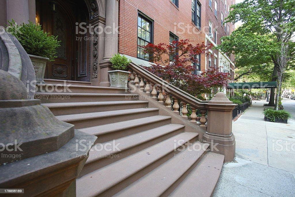 Brownstone Brooklyn royalty-free stock photo