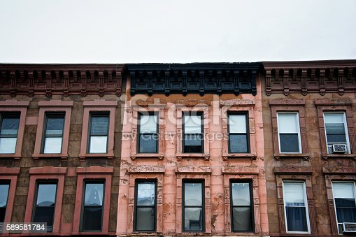 istock Brownstone c.1880's Apartment Buildings, Park Slope, Brooklyn, New York City 589581784